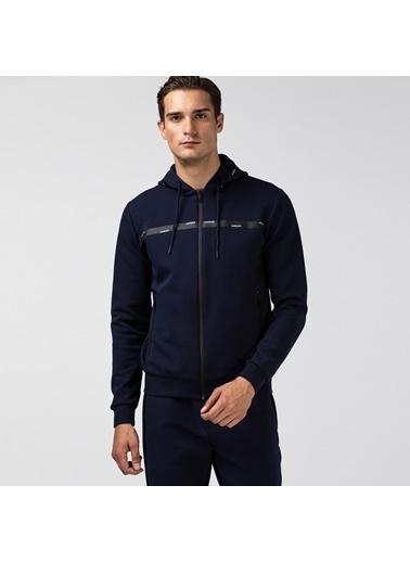 Lacoste Erkek Fermuarlı Sweatshirt SH2105.05L Lacivert